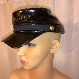 LOUIS VUITTON size SM black patent leather cap